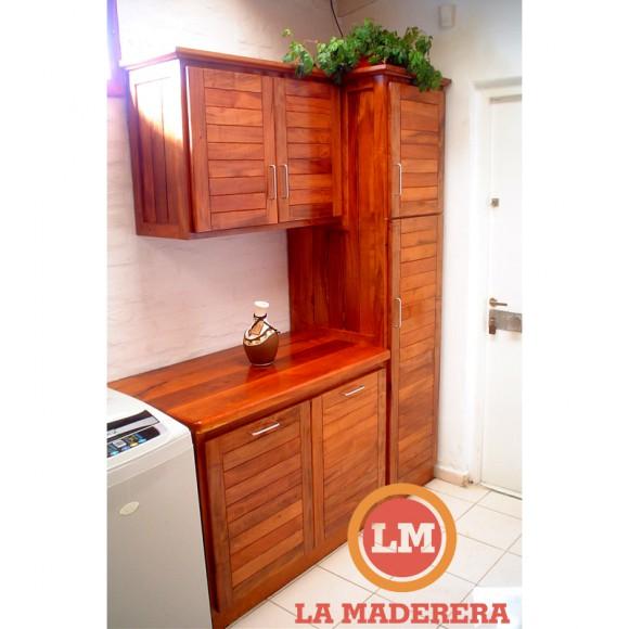 Mueble de lavadero espacio para art culos de limpieza y for Lavadero de cocina con mueble