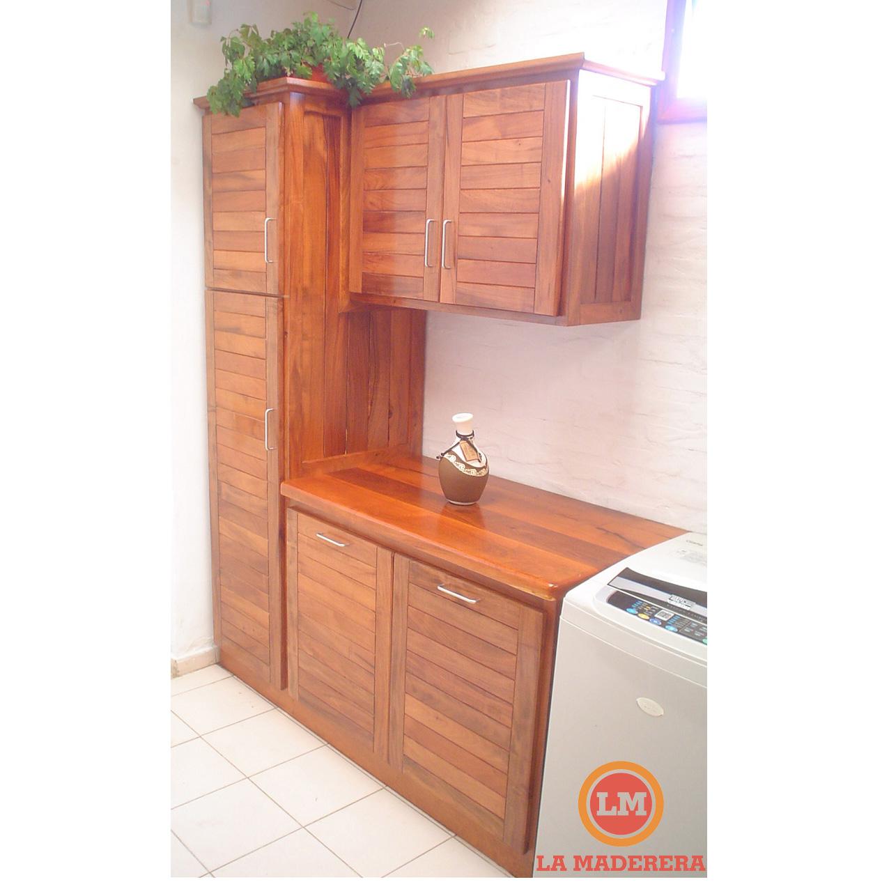Bajo mesadas y alacenas en quebracho colorado nuevo la for Muebles de cocina para montar
