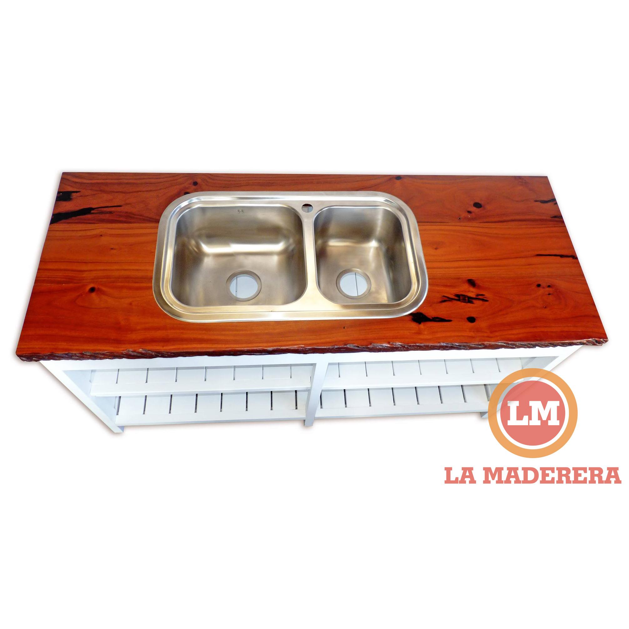 Bajo mesada y cajonera en madera semi dura mesada en for Mesada de madera para cocina