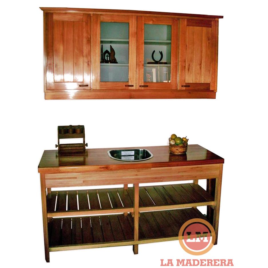 Muebles de cocina de algarrobo en mercado libre azarak for Muebles y muebles