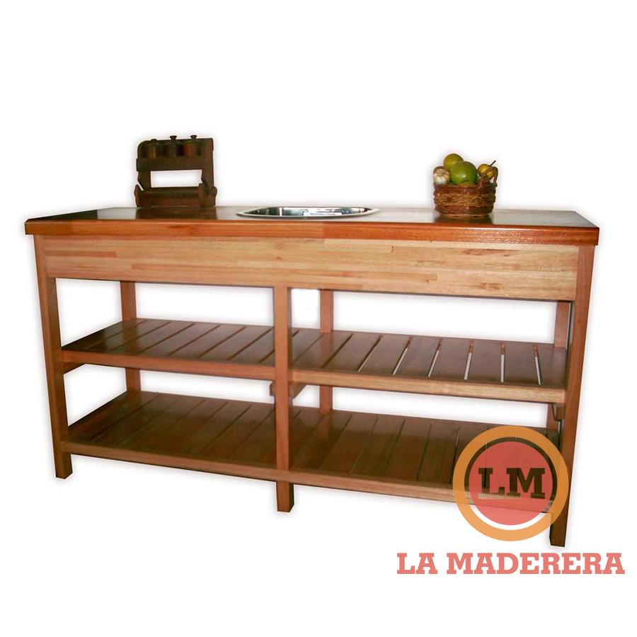 Muebles de cocina de algarrobo amoblamientos de cocina for Alacenas para cocina