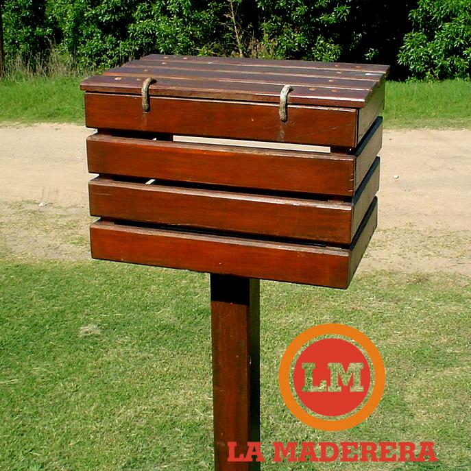 Cesto basuril en quebracho colorado con o sin tapa la - Cestos de madera ...