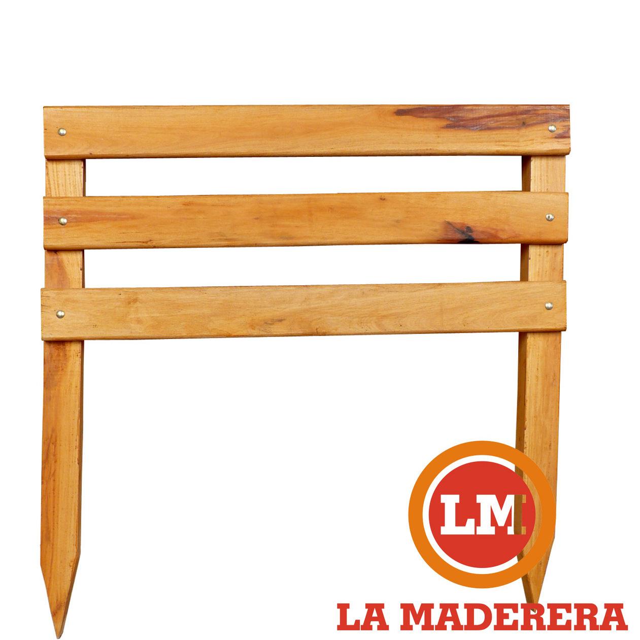 Vallado o cerco en madera dura o semi dura para exteriores - Vallado de madera ...