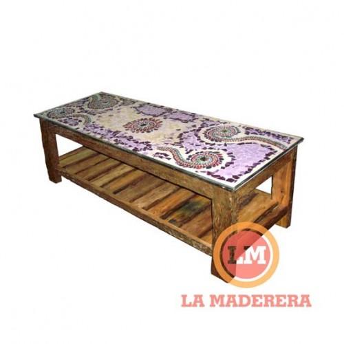 Mesa ratona base durmiente y tapa con mayolicas 0,40 x 1,30 mt (2)