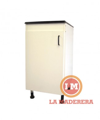 Mueble lavadero con bacha mármol sintético 1