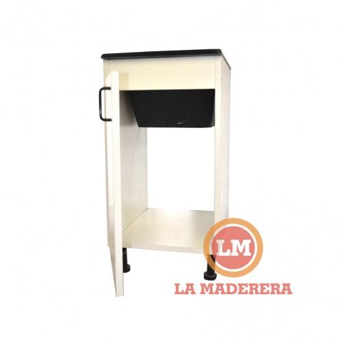 Mueble lavadero con bacha mármol sintético