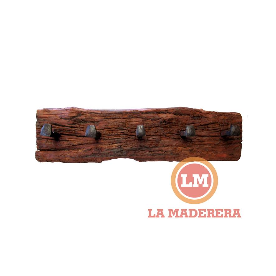 Perchero En Durmiente Con Clavos originales De Vía ferrea | LA MADERERA