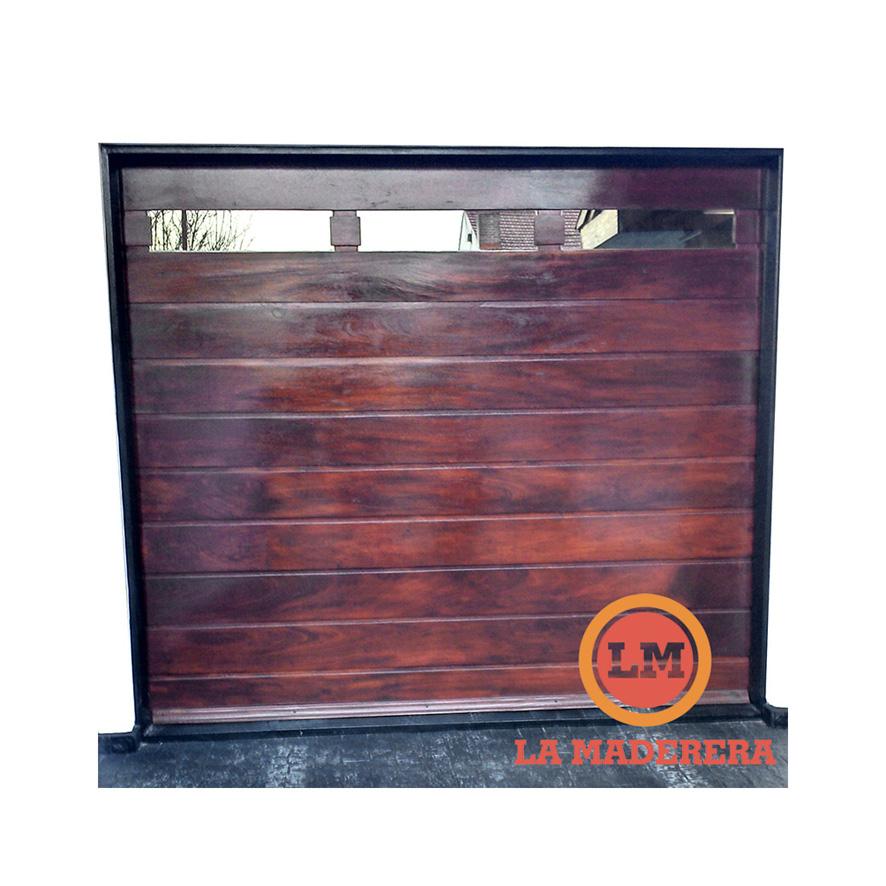 Portones en maderas varias para garage o acceso con opci n for Puertas de madera para garage