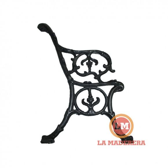 Juego de patas para banco de exterior en hierro fundido for Bancos de hierro para jardin