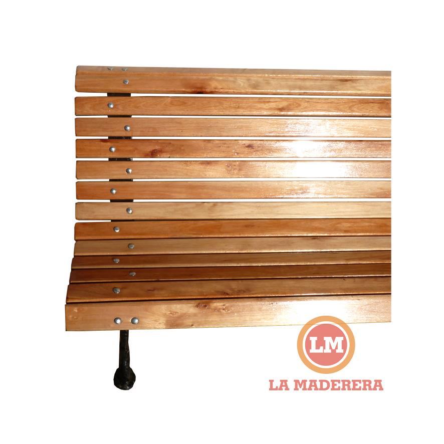Banco tipo plaza con 14 tablas en madera semi dura - Tipo de madera para exterior ...