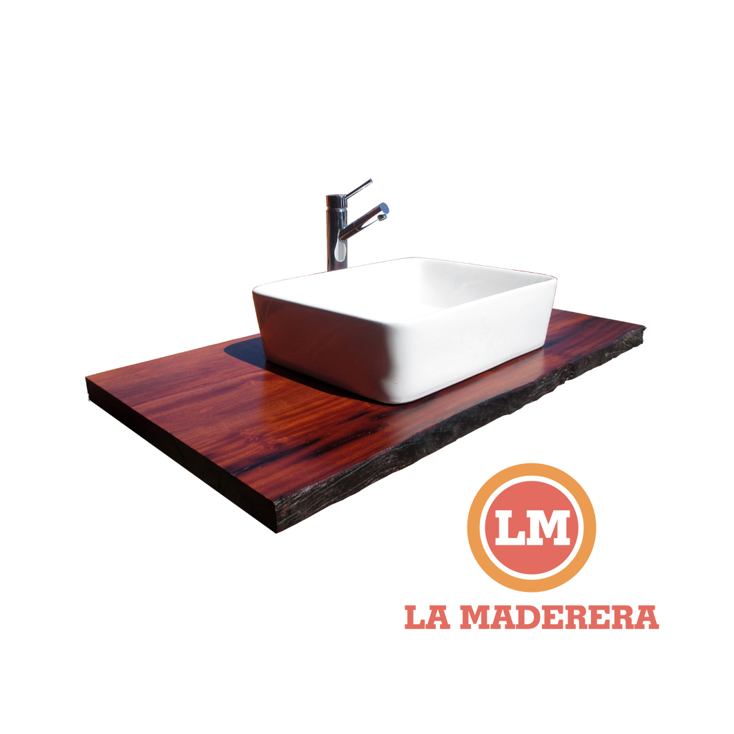 Bachas para ba o de madera for Mesada madera para bano