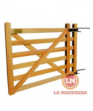 Tranqueras puertas categorias de los productos la for Como hacer un porton de madera economico