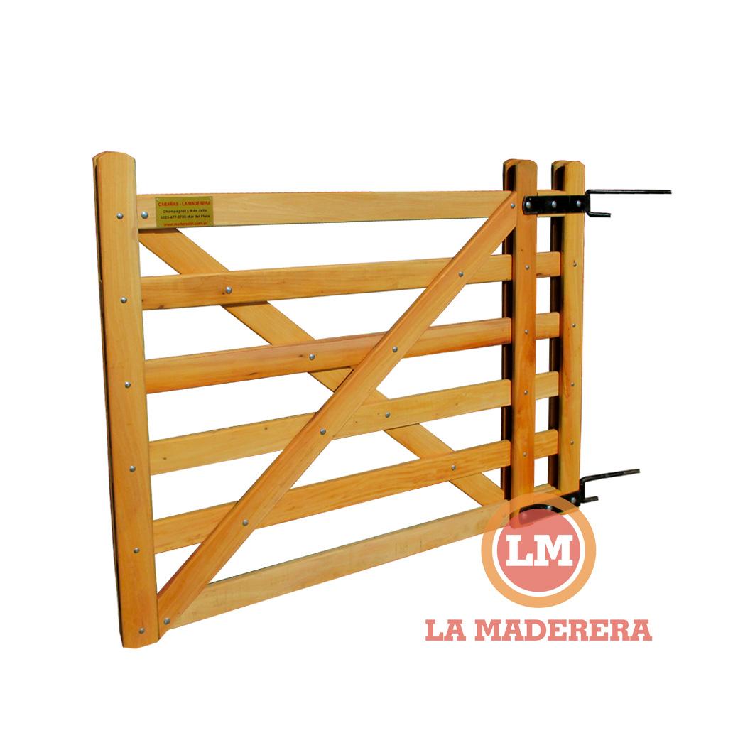 Tranquera port n en quebracho blanco madera dura for Como hacer un porton de madera economico