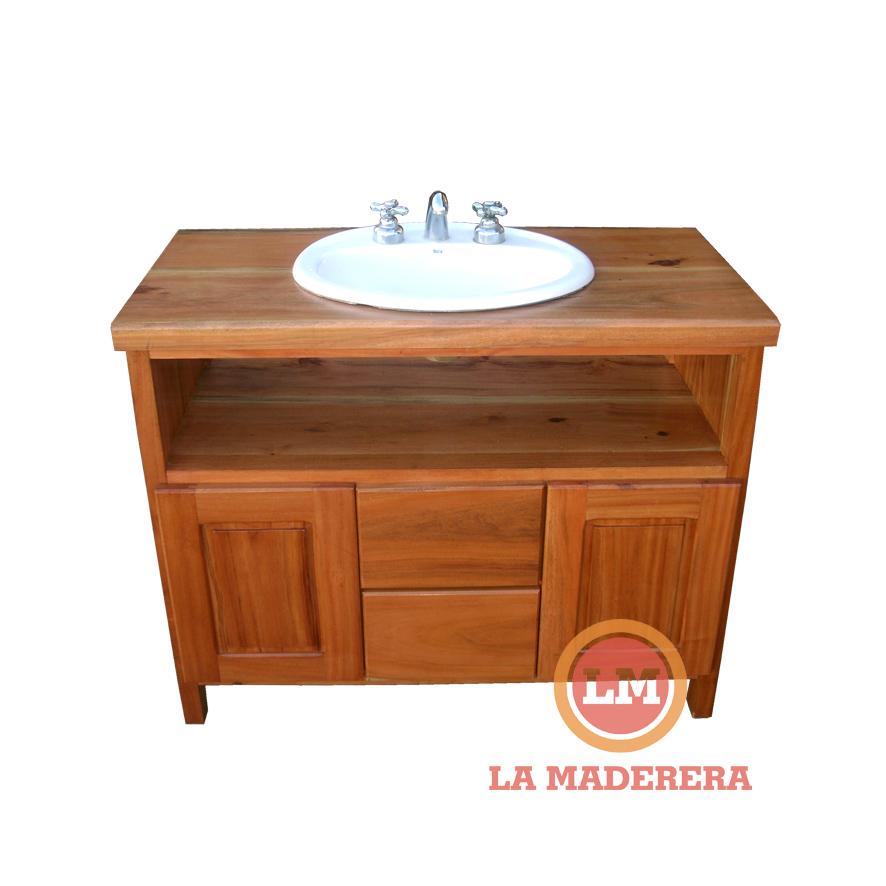 Mueble vanitory en quebracho colorado cajones puertas y for Medidas para muebles