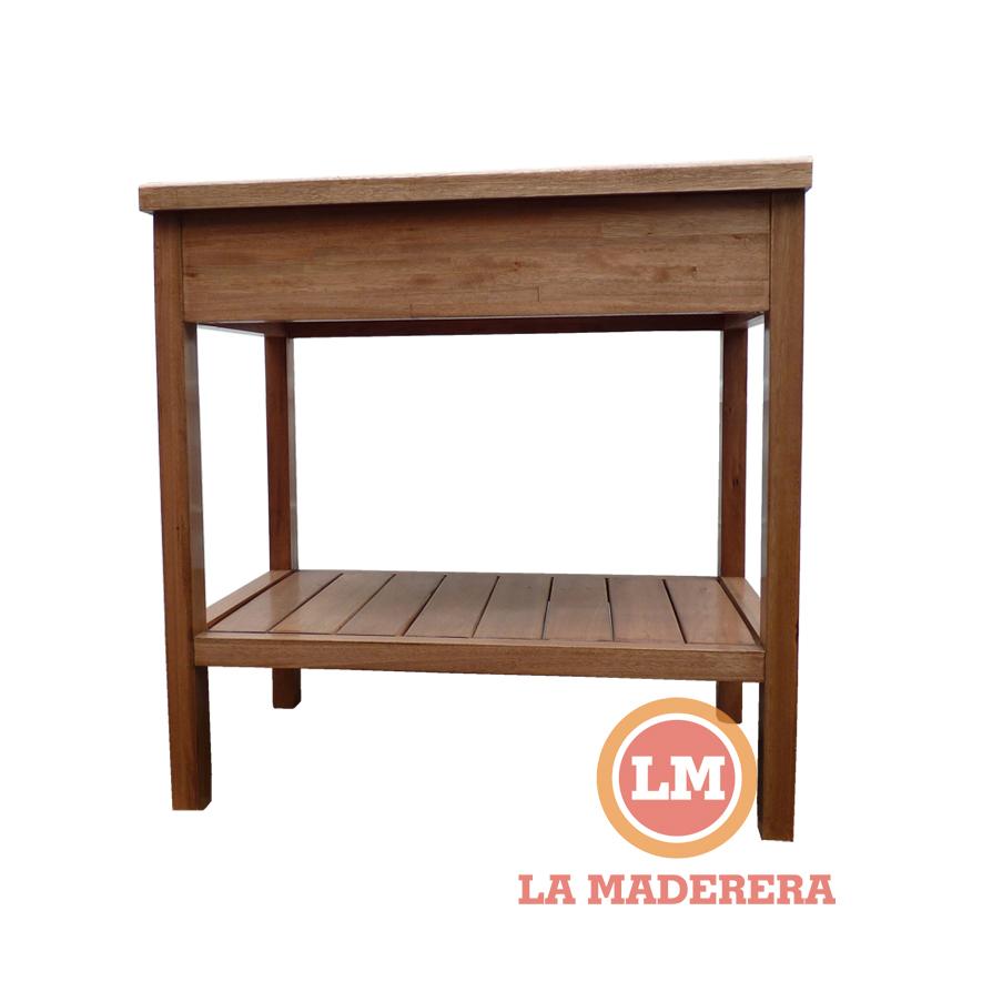 Muebles para ba o vanitory for Mesada madera para bano